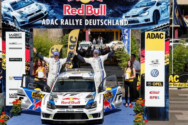 2014 World Rally Championship Rallye Deutschland 21-24 th August 2014 Andreas Mikkelsen, VW WRC, Podium Worldwide Copyright: McKlein/LAT