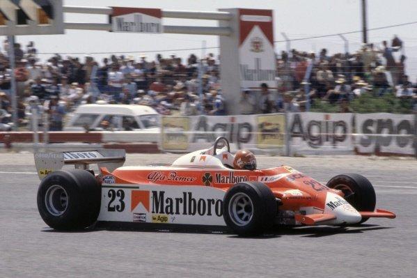 1980 French Grand Prix.Paul Ricard, France. 27-29 June 1980.Bruno Giacomelli (Alfa Romeo 179B), retired.World Copyright: LAT PhotographicRef: 35mm transparency 80FRA24