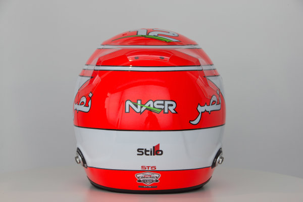 Sauber C34 Reveal. Hinwil, Switzerland. Thursday 29 January 2015. Helmet of Felipe Nasr. Photo: Sauber F1 Team (Copyright Free FOR EDITORIAL USE ONLY) ref: Digital Image Sauber_2015_Helmet_25