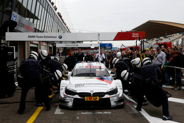 2014 DTM Championship Round 9 - Zandvoort, Netherlands. 27th - 28th September 2014 Pitstop Practice, Martin Tomczyk (GER) BMW Team Schnitzer BMW M4 World Copyright: XPB Images / LAT Photographic  Ref: 3314464_HiRes.JPG
