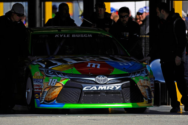 14-21 February, 2015, Daytona Beach, Florida USA Kyle Busch, M&M's Crispy Toyota Camry is rolled out of tech inspection. ?2015, F. Peirce Williams LAT Photo USA