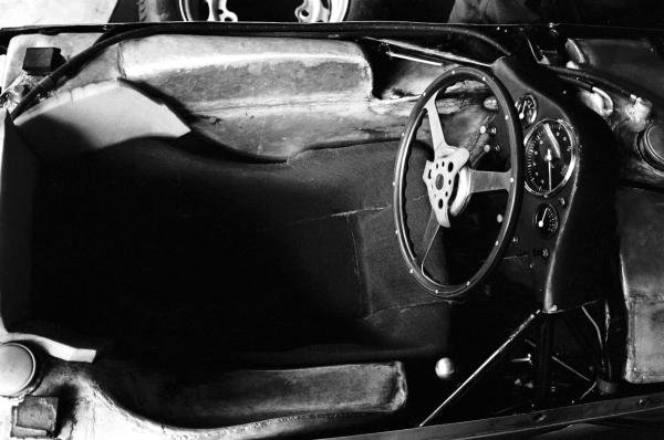 The cockpit of the Porsche 804 that gave Porsche its first ever Grand Prix victory. 