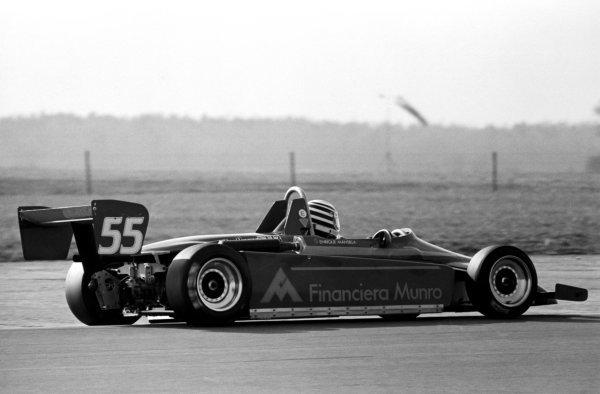 Enrique Mansilla (ARG), West Surrey Engineering Ralt RT3, finished third.British Formula Three Championship, Silverstone, England, 14 March 1982.