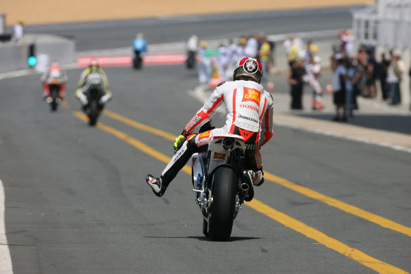 France LeMans. Round 3.  21st - 23rd May 2010 Marco Simoncelli San Carlo Honda Gresini