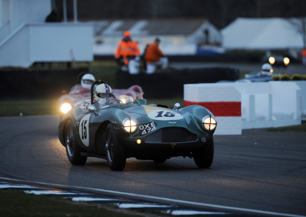 2016 74th Members Meeting Goodwood Estate, West Sussex,England 19th - 20th March 2016 Race 12 Peter Collins Trophy Steve Boultbee Brooks Aston Martin World Copyright : Jeff Bloxham/LAT Photographic Ref : Digital Image