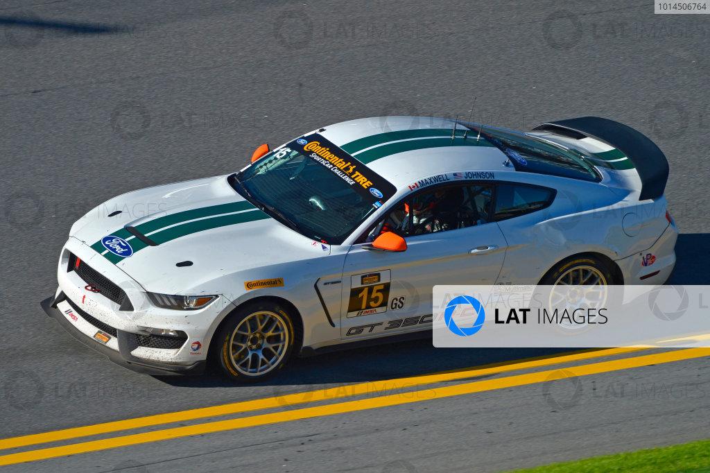 27-29 January, 2016, Daytona Beach, Florida USA 15, Ford, Shelby GT350R-C, GS, Scott Maxwell, Billy Johnson ?2016, F. Peirce Williams LAT Photo USA