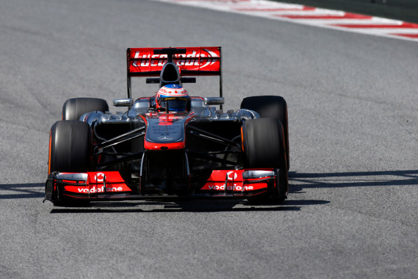 Circuit de Catalunya, Barcelona, Spain 12th May 2013 Jenson Button, McLaren MP4-28 Mercedes.  World Copyright: Glenn Dunbar/LAT Photographic ref: Digital Image _89P6150