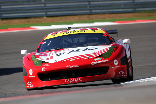 1-2 March, 2013, Austin, Texas, USA The #69 Ferrari of Emil Assentato and Anthony Lazzaro is shown in action. ©2013, R D. Ethan LAT Photo USA