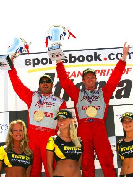 GT2 winners Bill Auberlen (USA) and Robbin Liddell (GBR) Panoz Motorsports.C: 2005, Denis L. Tanney, WorldAmerican Le Mans Series, Rd2, Road Atlanta, USA, 17 April 2005.DIGITAL IMAGE