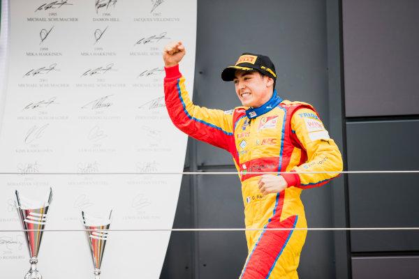 2017 GP3 Series Round 3.  Silverstone, Northamptonshire, UK. Sunday 16 July 2017. Giuliano Alesi (FRA, Trident).  Photo: Zak Mauger/GP3 Series Media Service. ref: Digital Image _56I0165