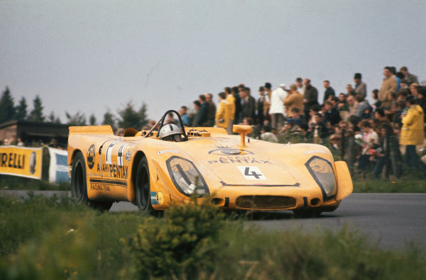 Nurburgring, Germany. 31st May 1970. Rd 7.Sepp Greger/Helmut Leuze (Porsche 908/02), 8th position, action. World Copyright: LAT Photographic.Ref:  70Ring 10.