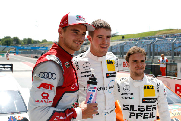 Top3 after qualifying: Pole position for Paul Di Resta, Mercedes-AMG Team HWA, Nico Müller, Audi Sport Team Abt Sportsline, Lucas Auer, Mercedes-AMG Team HWA.