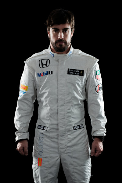McLaren Honda MP4-30 Reveal Woking, UK. 29 January 2015 Fernando Alonso. Photo: McLaren (Copyright Free FOR EDITORIAL USE ONLY) ref: Digital Image MH-Drivers-20150127-0570