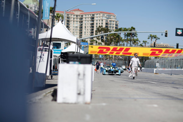 2014/2015 FIA Formula E Championship. Sam Bird (GBR)/Virgin Racing - Spark-Renault SRT_01E  Long Beach ePrix, Long Beach, California, United States of America. Saturday 4 April 2015  Photo: Adam Warner/LAT/FE ref: Digital Image _L5R7037