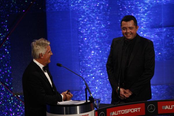 2014 Autosport Awards. Grosvenor House Hotel, Park Lane, London. Sunday 7 December 2014. Eric Boullier. World Copyright: Sam Bloxham/LAT Photographic. ref: Digital Image _G7C2544