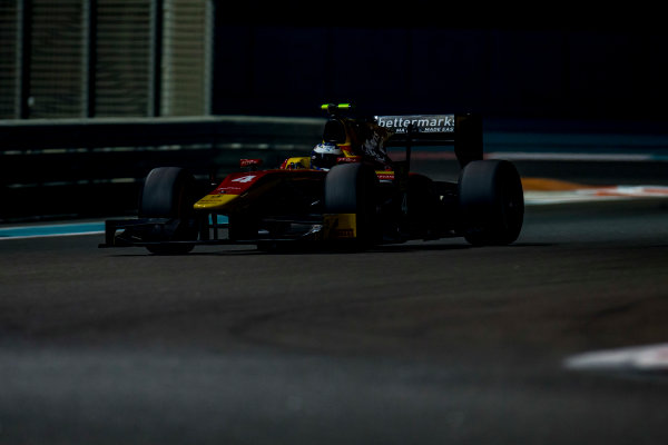 2016 GP2 Series Test 3 Yas Marina Circuit, Abu Dhabi, United Arab Emirates. Friday 2 December 2016. Gustav Malja (SWE, Racing Engineering)  Photo: Zak Mauger/GP2 Series Media Service. ref: Digital Image _L0U4775