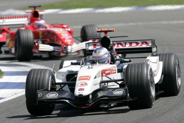 2005 British Grand Prix,Jenson Button (GBR), BAR-Honda, Silverstone, Grand Prix, 10th July 2005 World copyright: Jakob Ebrey/LAT Photographic.