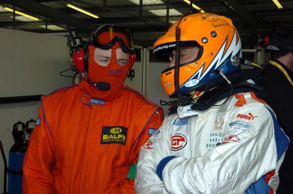 2006 FIA GT Championship Tourist Trophy.Silverstone, England. 5-6th May. Neil Cunningham gets last minute instructions. Balfe Motorsport Saleen S7R. Worldwide Copyright-Dave Friedman/LAT-06