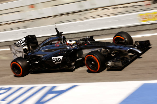 Circuit de Catalunya, Barcelona, Spain. Wednesday 14 May 2014. Stoffel Vandoorne, McLaren MP4-29 Mercedes.  World Copyright: Sam Bloxham/LAT Photographic. ref: Digital Image _SBL0448