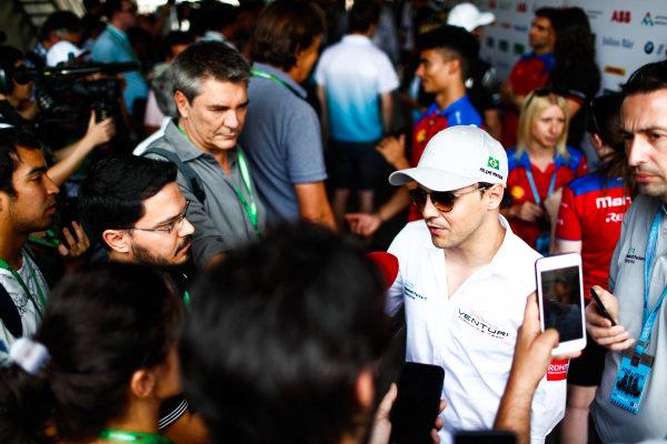 Felipe Massa (BRA), Venturi Formula E talks to the press