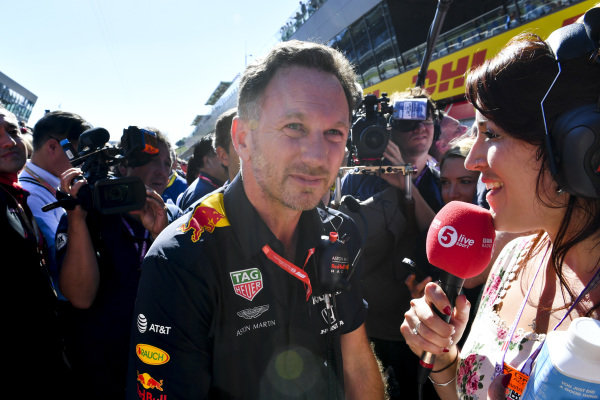 Christian Horner, Team Principal, Red Bull Racing, is interviewed after the race