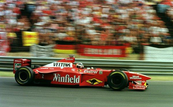 1998 Hungarian Grand Prix.Hungaroring, Budapest, Hungary.14-16 August 1998.Heinz-Harald Frentzen (Williams FW20 Mecachrome) 5th position.World Copyright - Steve Etherington/LAT Photographic
