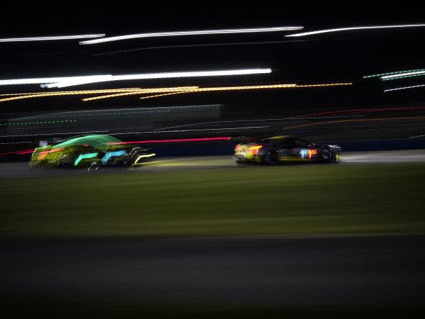 #14 AIM Vasser Sullivan Lexus RC-F GT3, GTD: Parker Chase, Jack Hawksworth, Michael De Quesada, Kyle Busch, #4 Corvette Racing Corvette C8.R, GTLM: Oliver Gavin, Tommy Milner, Marcel Fassler