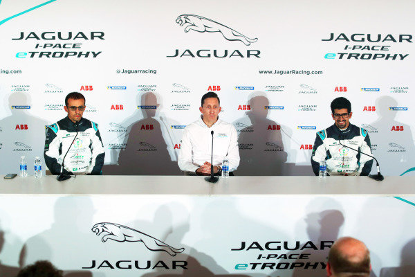 James Barclay, Panasonic Jaguar Racing in the press conference with Bandar Alesayi (SAU), Saudi Racing and Ahmed Bin Khanen (SAU), Saudi Racing