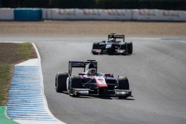 2017 FIA Formula 2 Round 10. Circuito de Jerez, Jerez, Spain. Saturday 7 October 2017. Nabil Jeffri (MAS, Trident).  Photo: Andrew Ferraro/FIA Formula 2. ref: Digital Image _FER1869