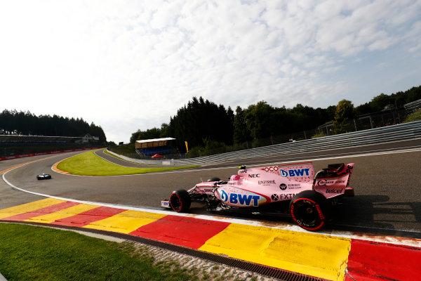 Spa Francorchamps, Belgium.  Friday 25 August 2017. Esteban Ocon, Force India VJM10 Mercedes.  World Copyright: Sam Bloxham/LAT Images  ref: Digital Image _J6I7615