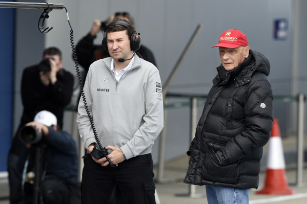 Niki Lauda (AUT) Mercedes AMG F1 Non-Executive Chairman. Formula One Testing, Jerez, Spain, Day Two, Wednesday 29 January 2014.