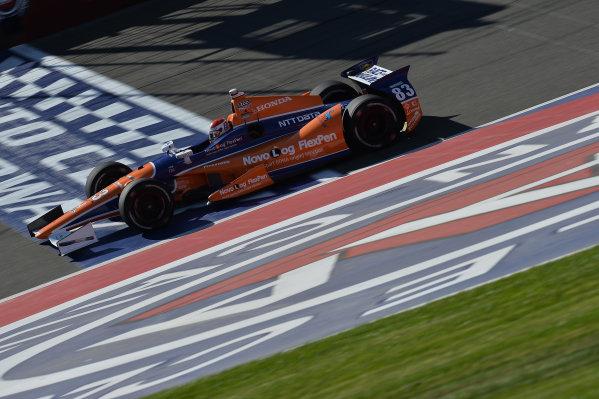 Charlie Kimball (USA) Novo Nordisk Chip Ganassi Racing. Izod Indycar Series, Rd16, MAVTV American Real 500, Fontana, USA, 18-19 October 2013.