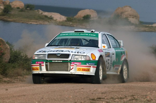 2003 FIA World Rally Champs. Round Five, Argentina,  8th-11th May 2003 Toni Gardemeister, Skoda, action. World Copyright: McKlein/LAT