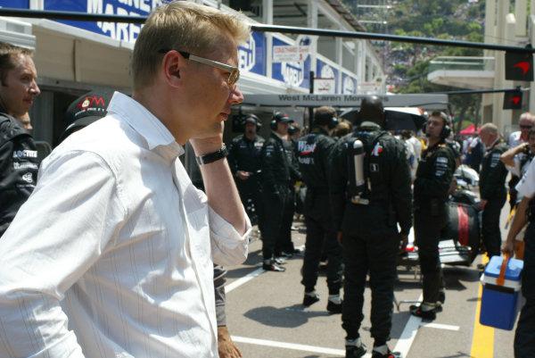 2003 Monaco Grand Prix, Sunday Race,Monte Carlo, Monaco.1st June 2003.Mika Hakkinen.World Copyright LAt Photographic.Digital Image Only.