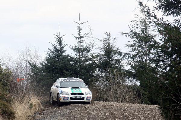 Bulldog Rally, Wales 28th March,Mark Higgins/Bryan Thomas - Subaru Impreza N11World Copyright: Ebrey/LAT Photographic