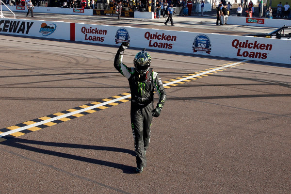 13-14 November, 2015, Avondale, Arizona USA Kyle Busch, Monster Energy Toyota Camry celebrates his win  ?2015, Russell LaBounty LAT Photo USA