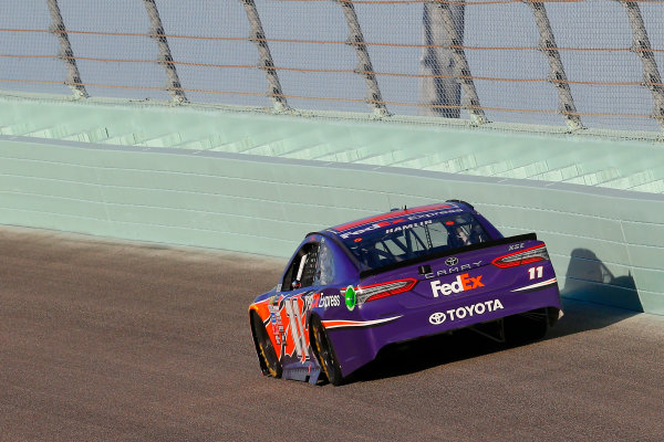 Monster Energy NASCAR Cup Series Ford EcoBoost 400 Homestead-Miami Speedway, Homestead, FL USA Sunday 19 November 2017 Denny Hamlin, Joe Gibbs Racing, FedEx Express Toyota Camry World Copyright: Russell LaBounty LAT Images