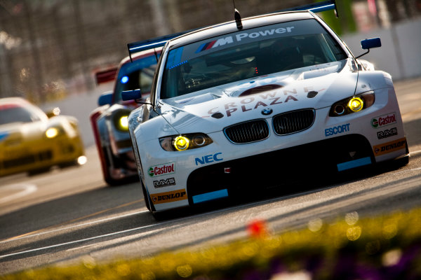 Long Beach. California, USA. 16th - 18th April 2010. Dirk Muller / Joey Hand, (BMW Rahal Letterman Racing Team, BMW E92 M3). Action. World Copyright: Drew Gibson/LAT Photographic. Digital Image _Y2Z1013