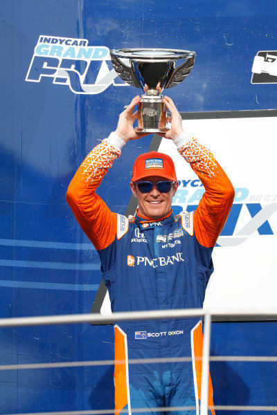Scott Dixon, Chip Ganassi Racing Honda, podium