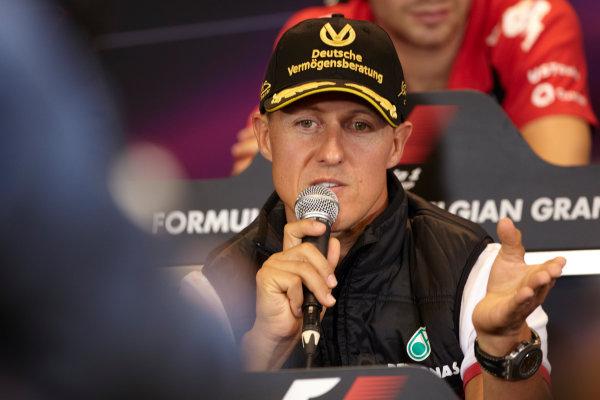 Spa-Francorchamps, Spa, Belgium 25th August 2011. Michael Schumacher, Mercedes GP W02, in the Thursday press conference. Portrait. Press Conferences.  World Copyright: Steve Etherington/LAT Photographic ref: Digital Image SNE29655