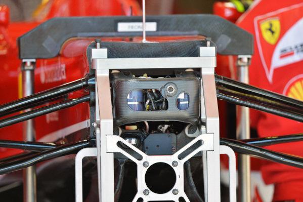 Ferrari F138 chassis detail. Formula One World Championship, Rd1, Australian Grand Prix, Preparations, Albert Park, Melbourne, Australia, Thursday 14 March 2013.
