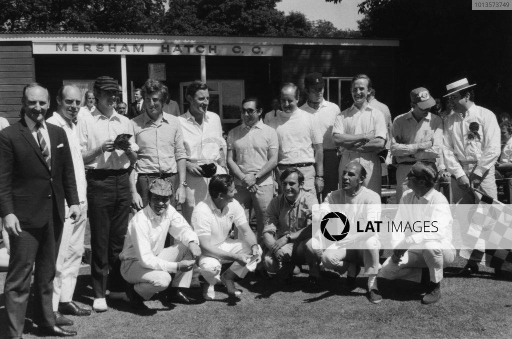 38979a09c9e 1968 British Grand Prix Cricket Match.  1968 Formula 1 Photo