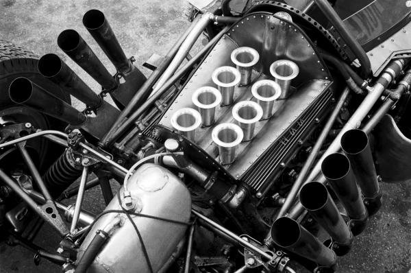 The V8 BRM engine powering the BRM P57 of Graham Hill (GBR). Monaco Grand Prix, Monte Carlo, 3 June 1962.