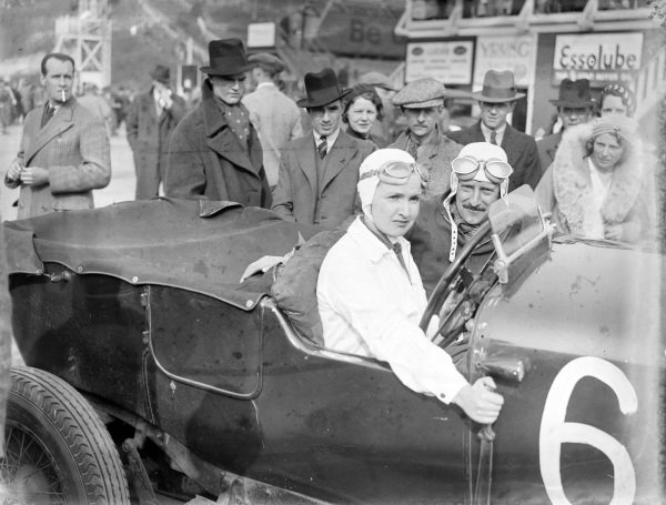 Miss M. Allan, Bentley, became the first woman to win an ordinary BARC race when she triumphed in the Ripley Junior Long Handicap.