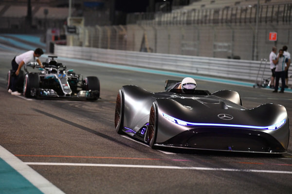 Mercedes-Benz, EQ Silver Arrow concept car and Valtteri Bottas, Mercedes-AMG F1 W09 EQ Power+