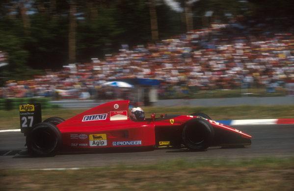 1991 German Grand Prix.Hockenheim, Germany.26-28 July 1991.Jean Alesi (Ferrari 643) 3rd position.Ref-91 GER 02.World Copyright - LAT Photographic