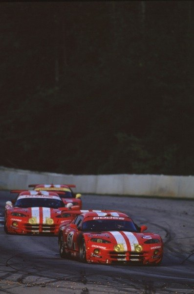 1999 American Le Mans Series.Road Atlanta, USA.17-19 September 1999.The Chrysler Vipers had a complete white-wash of GT2, finishing 1st, 2nd and 3rd in class.World - Tee/LAT Photographic