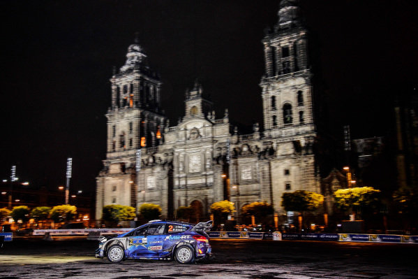 Ott Tanak (EST) / Martin Jarveoja (EST), M-Sport World Rally Team Ford Fiesta WRC at World Rally Championship, Rd3, Rally Mexico, SS1, Leon, Mexico, 9 March 2017.