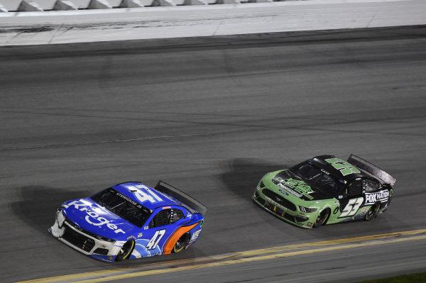 #47: Ricky Stenhouse Jr., JTG Daugherty Racing, Chevrolet Camaro Kroger/NOS Energy Drink #53: Joey Gase, Rick Ware Racing, Ford Mustang