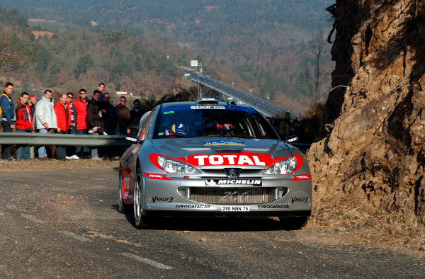 2002 World Rally ChampionshipRally Catalunya, 21st-24th March 2002.Marcus Gronholm during shakedown.Photo: Ralph Hardwick/LAT